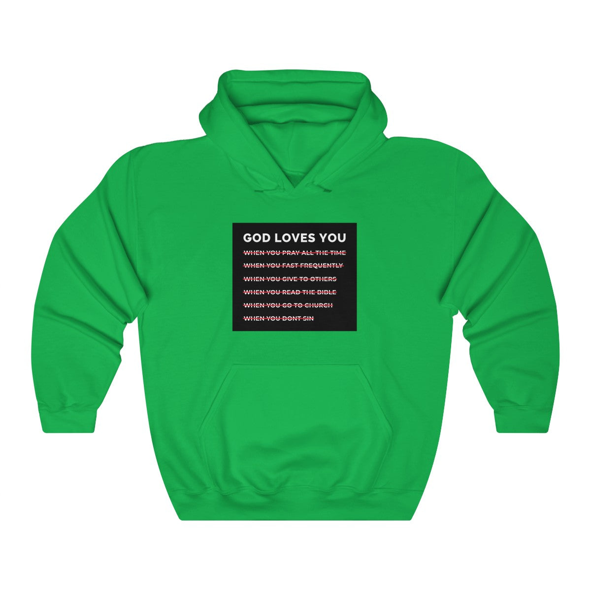 God Loves You Unisex Heavy Blend™ Hooded Sweatshirt