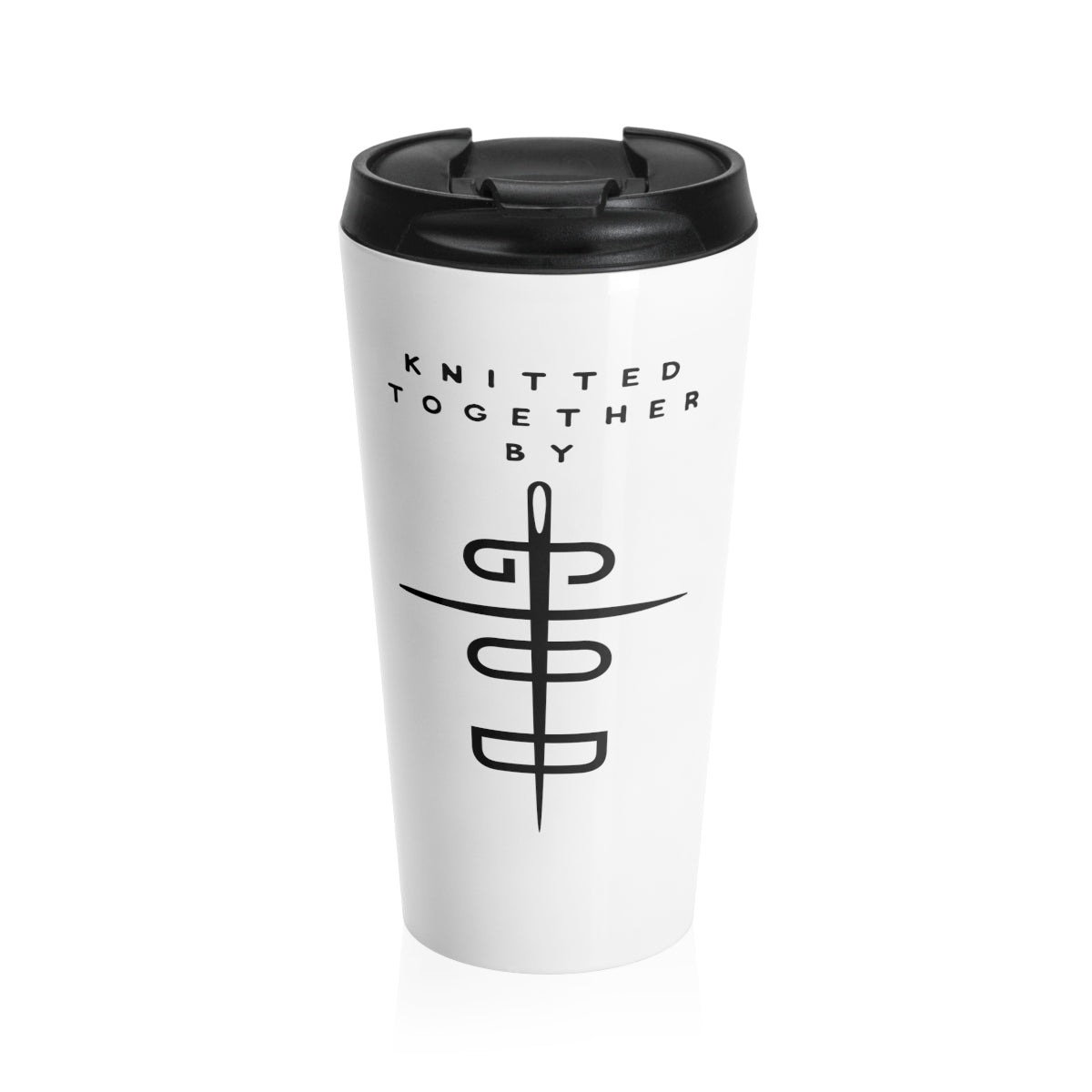 Knitted Together By God Stainless Steel Travel Mug