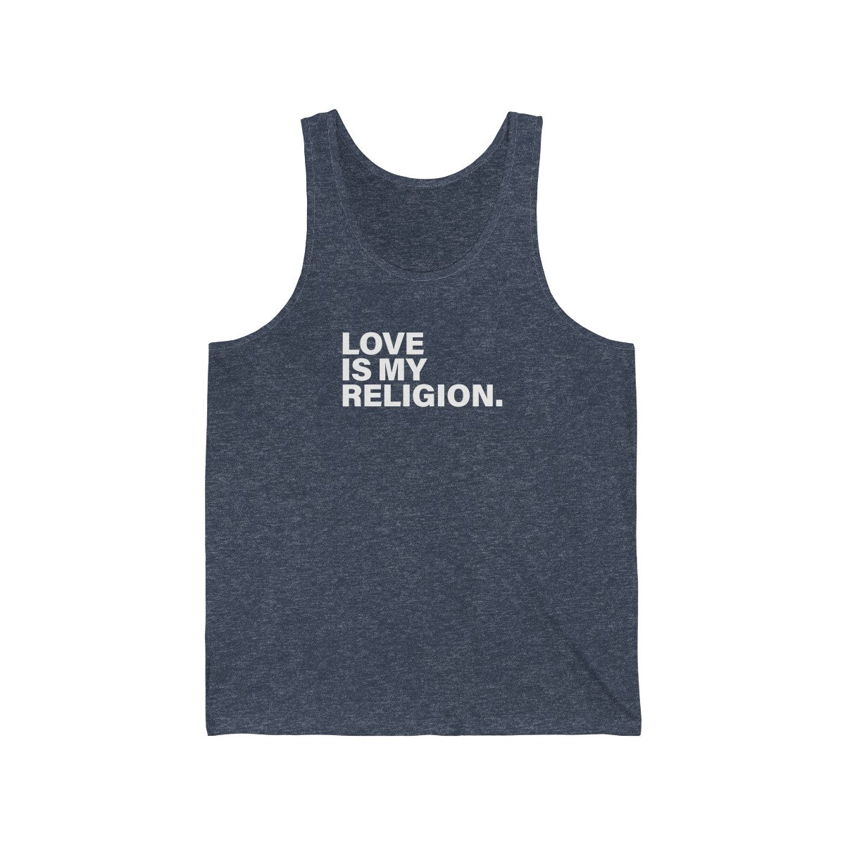 Love Is My Religion Unisex Jersey Tank