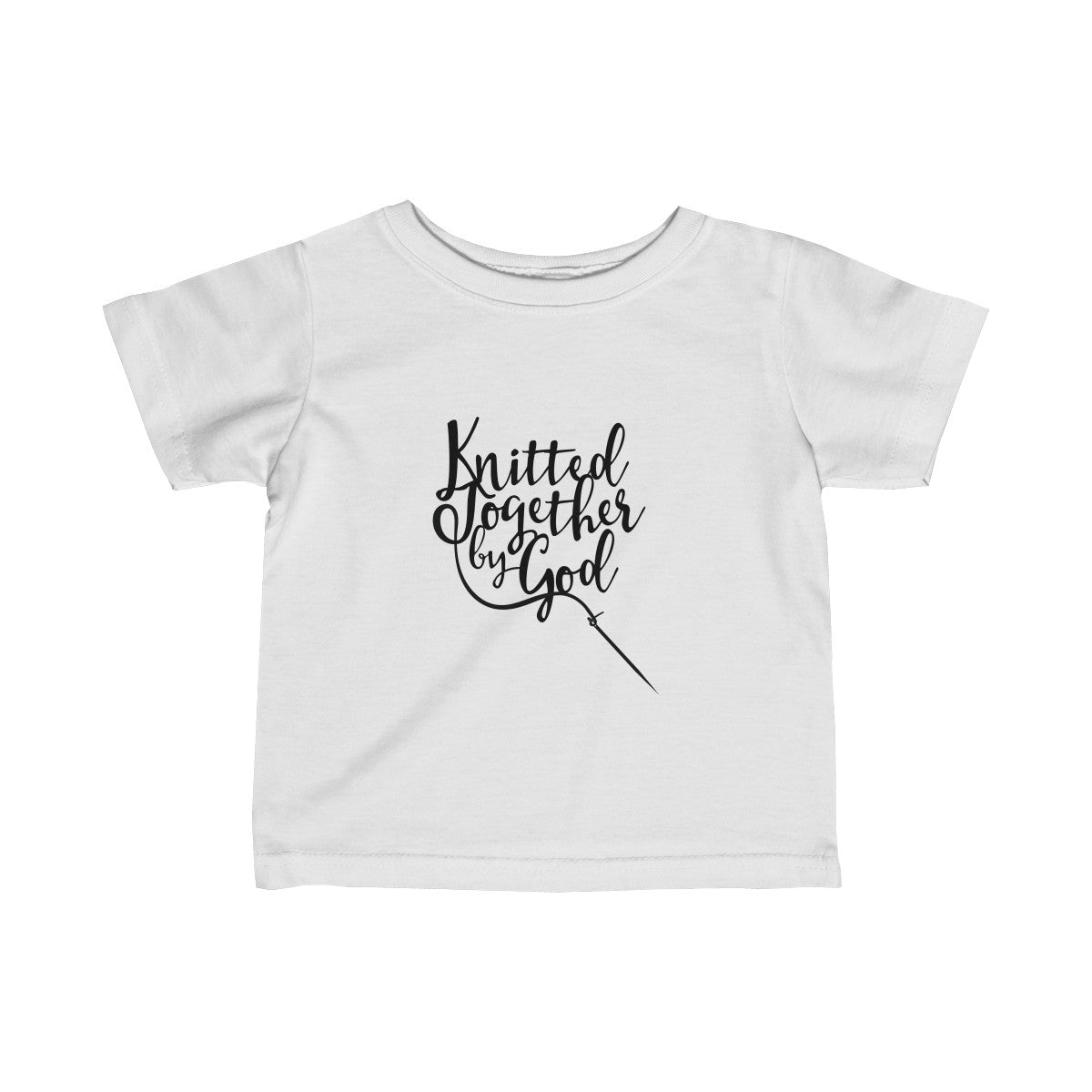 Knitted Together By God Infant Fine Jersey Tee