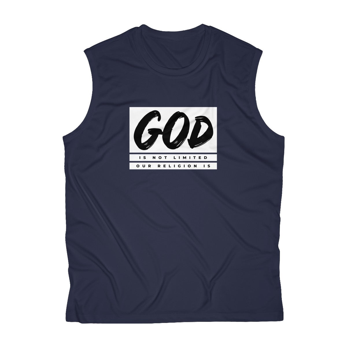 God Is Not Limited Our Religion Is Men's Sleeveless Performance Tee