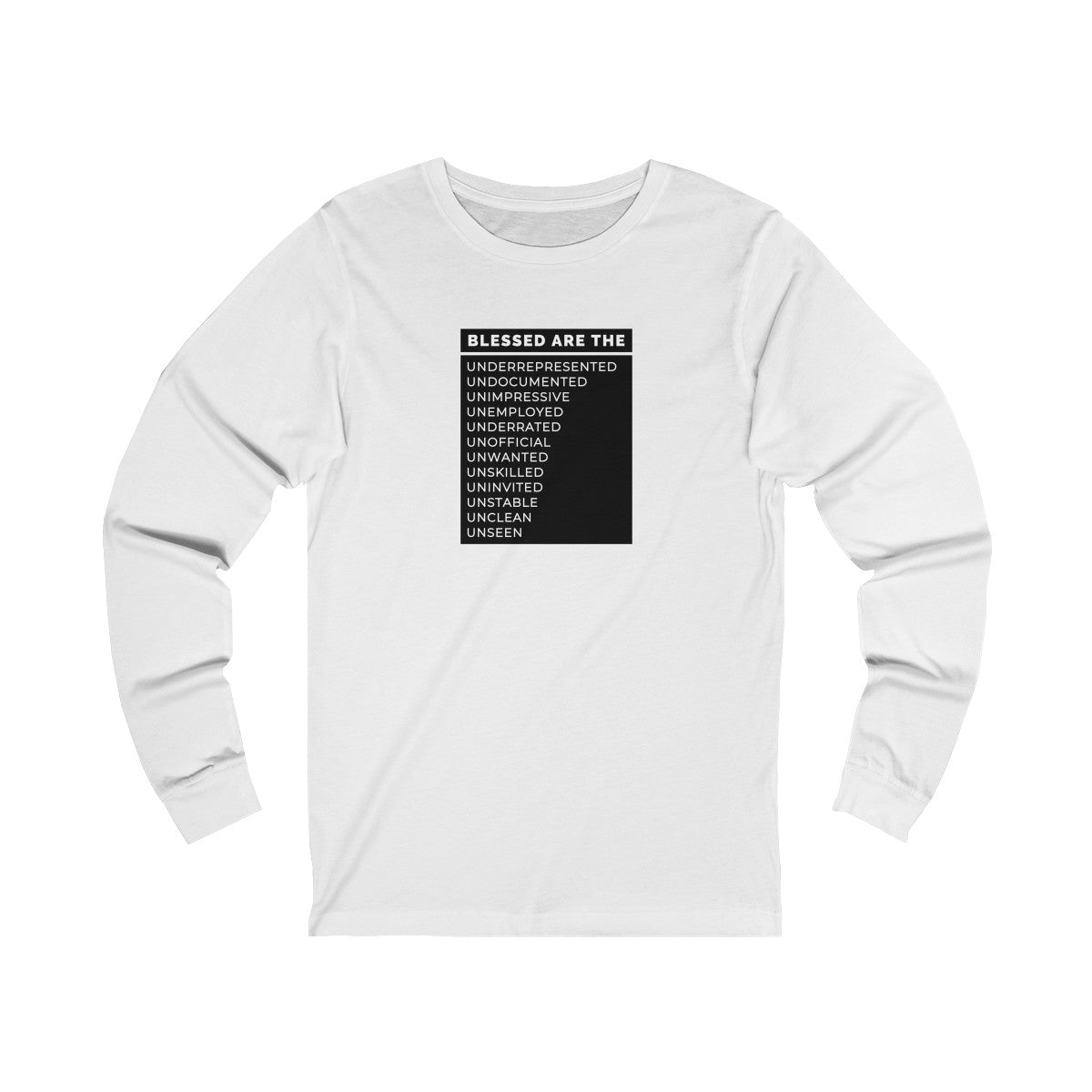 Blessed Are The Unisex Jersey Long Sleeve Tee