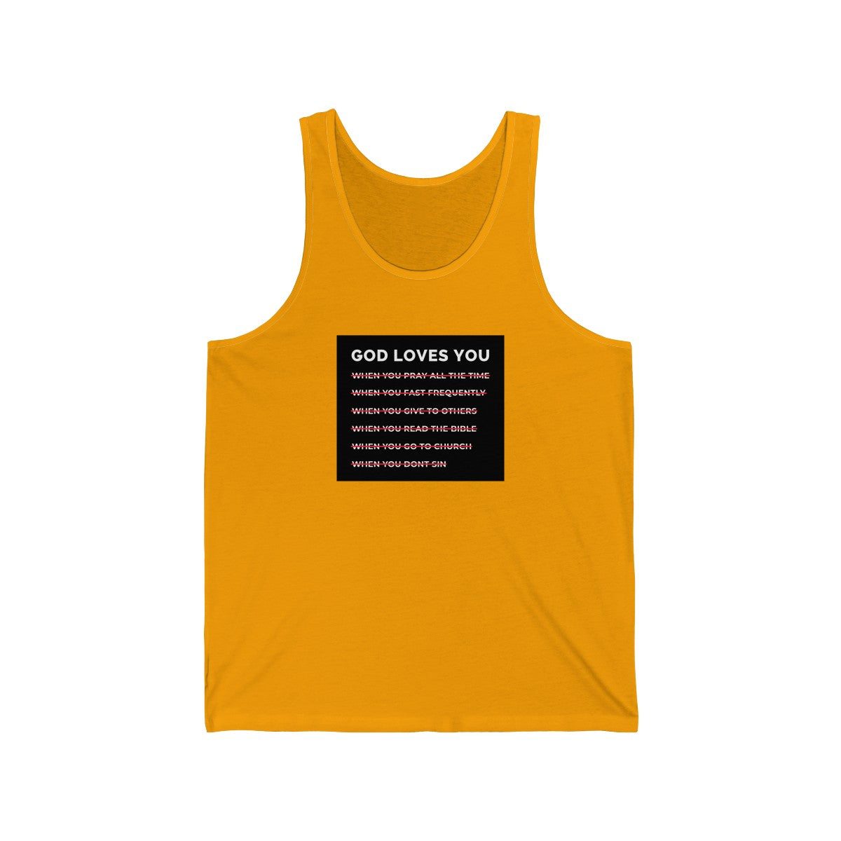 God Loves You Unisex Jersey Tank