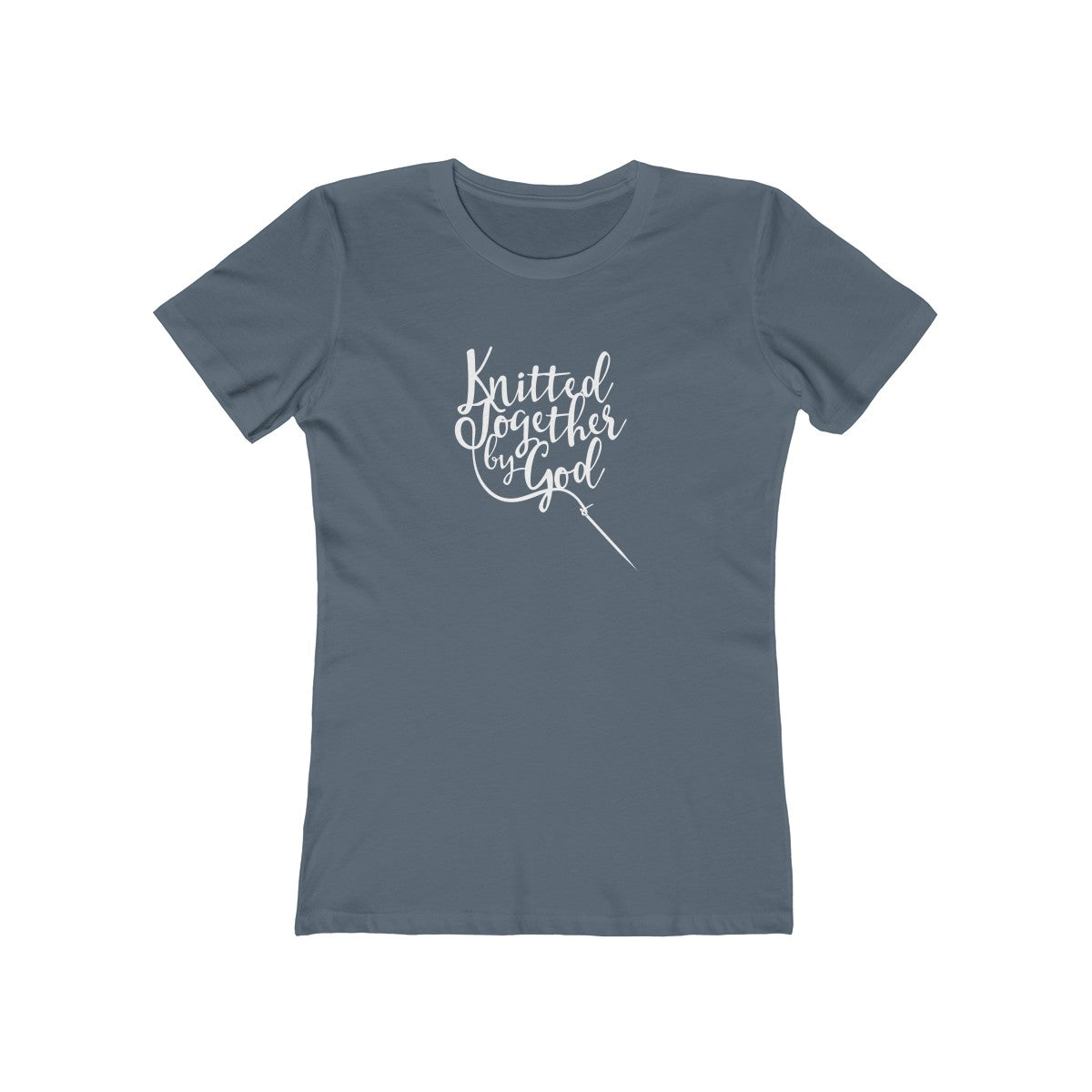Knitted Together By God Women's Tee - Dark Colors