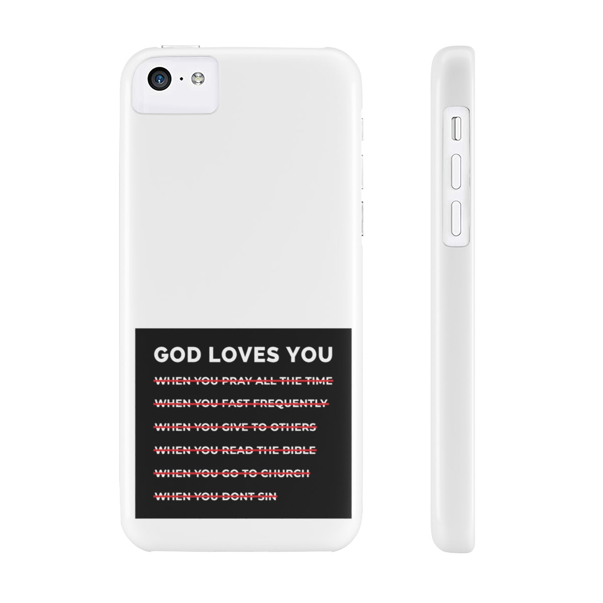 God Loves You Case Mate Slim Phone Cases