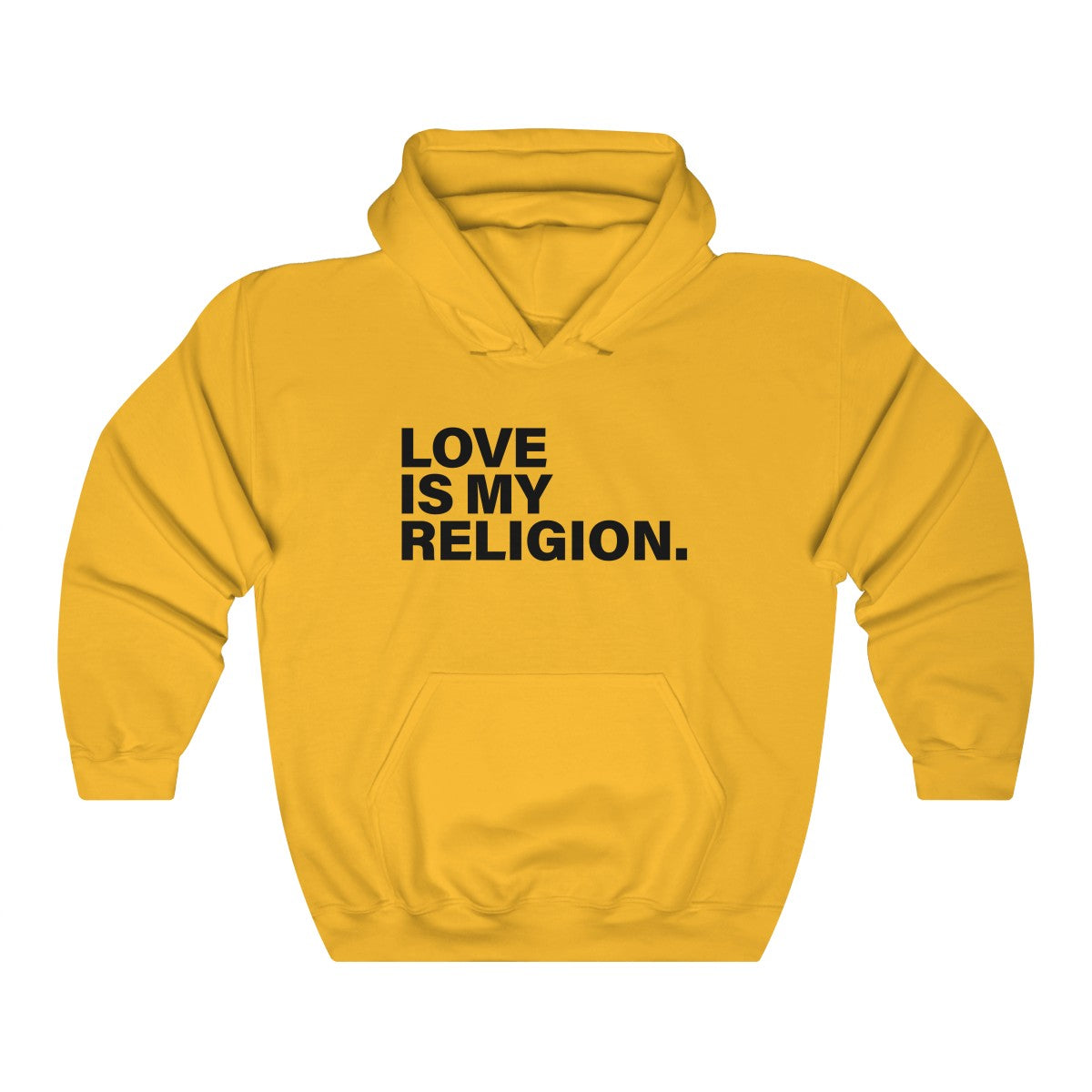 Love Is My Religion Unisex Heavy Blend™ Hooded Sweatshirt - LIGHT COLORS