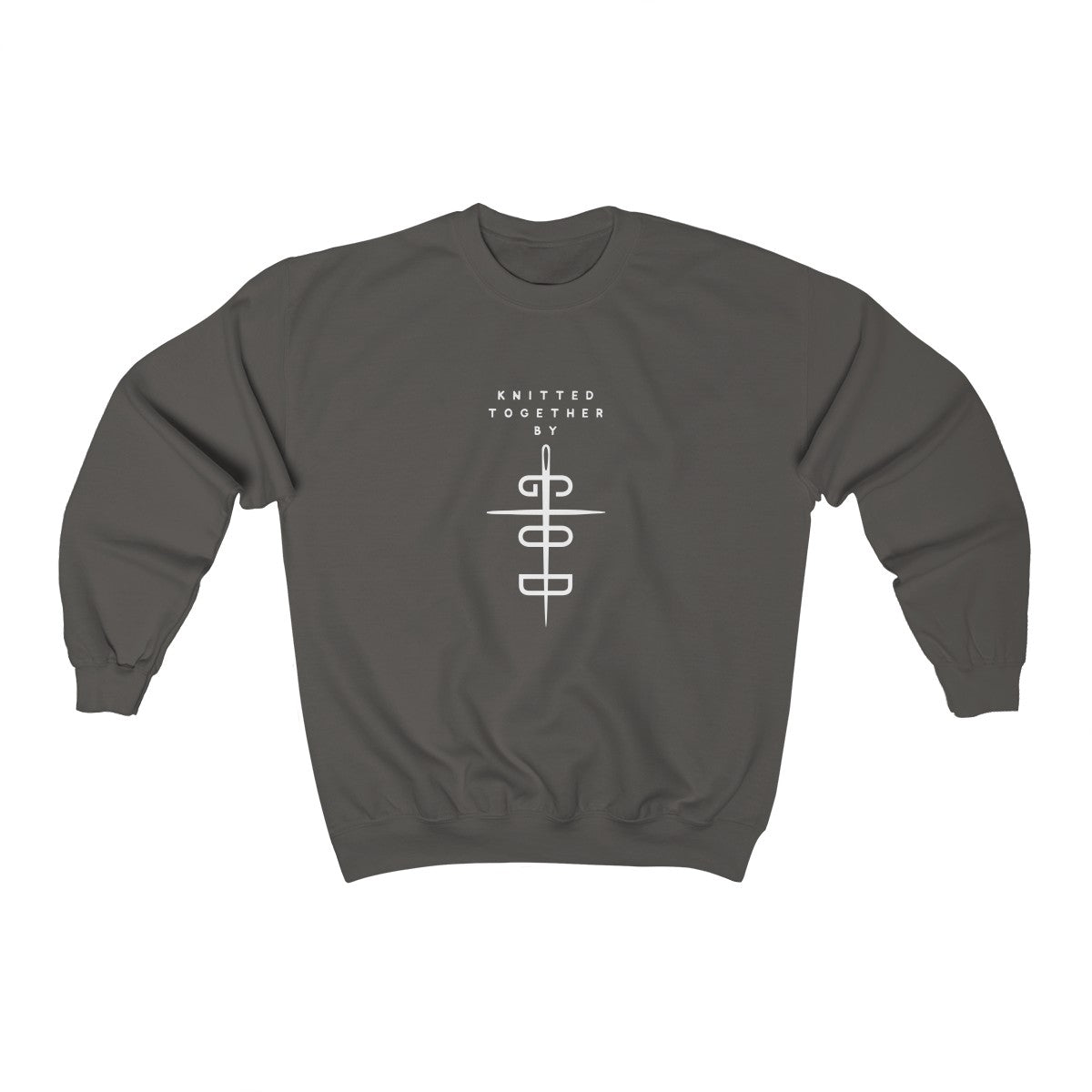 Knitted Together By God Unisex Heavy Blend™ Crewneck Sweatshirt