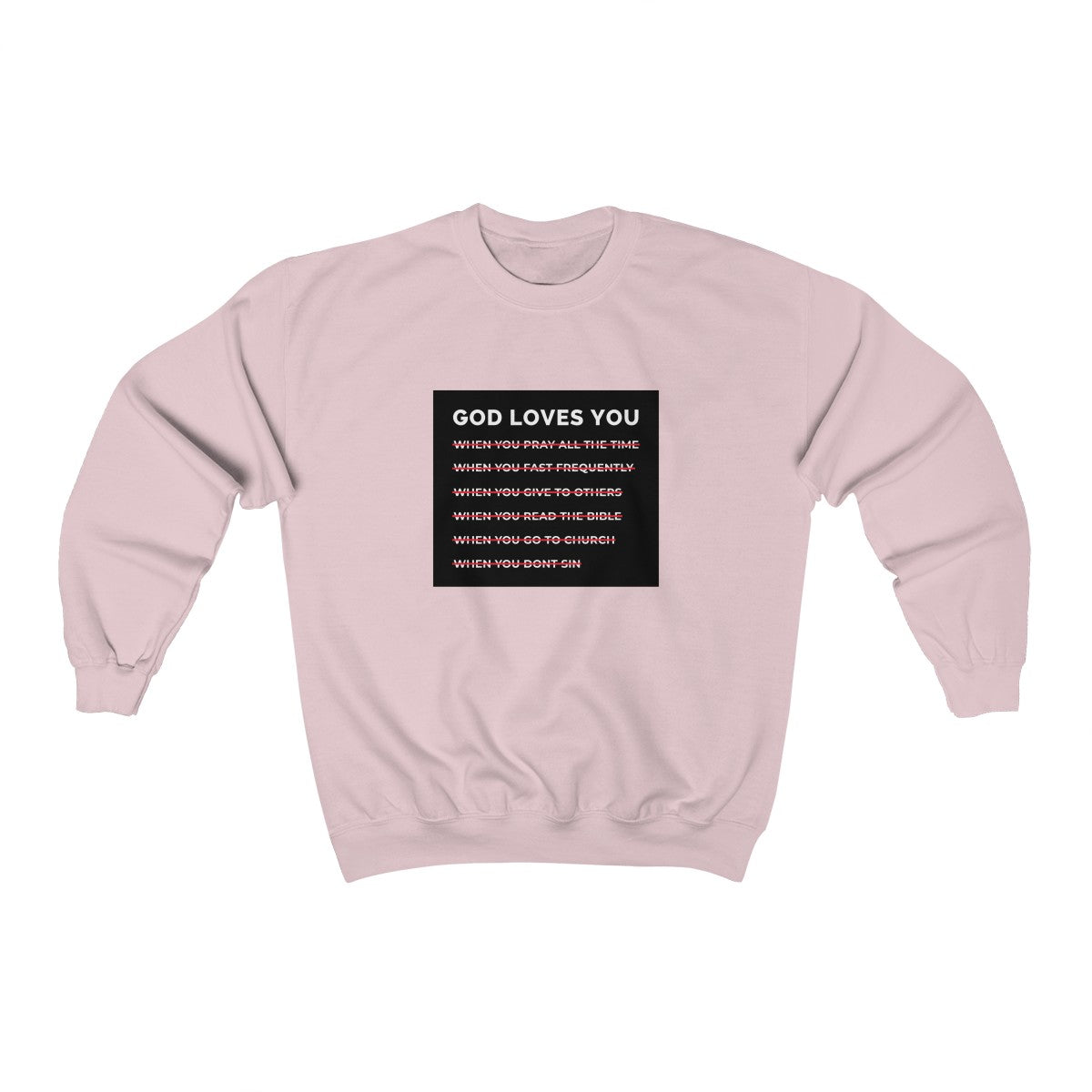 God Loves You Unisex Heavy Blend™ Crewneck Sweatshirt