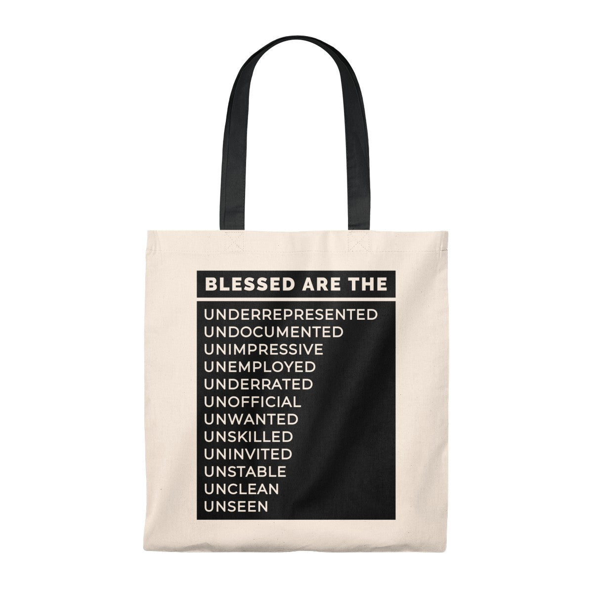 Blessed Are The Tote Bag - Vintage