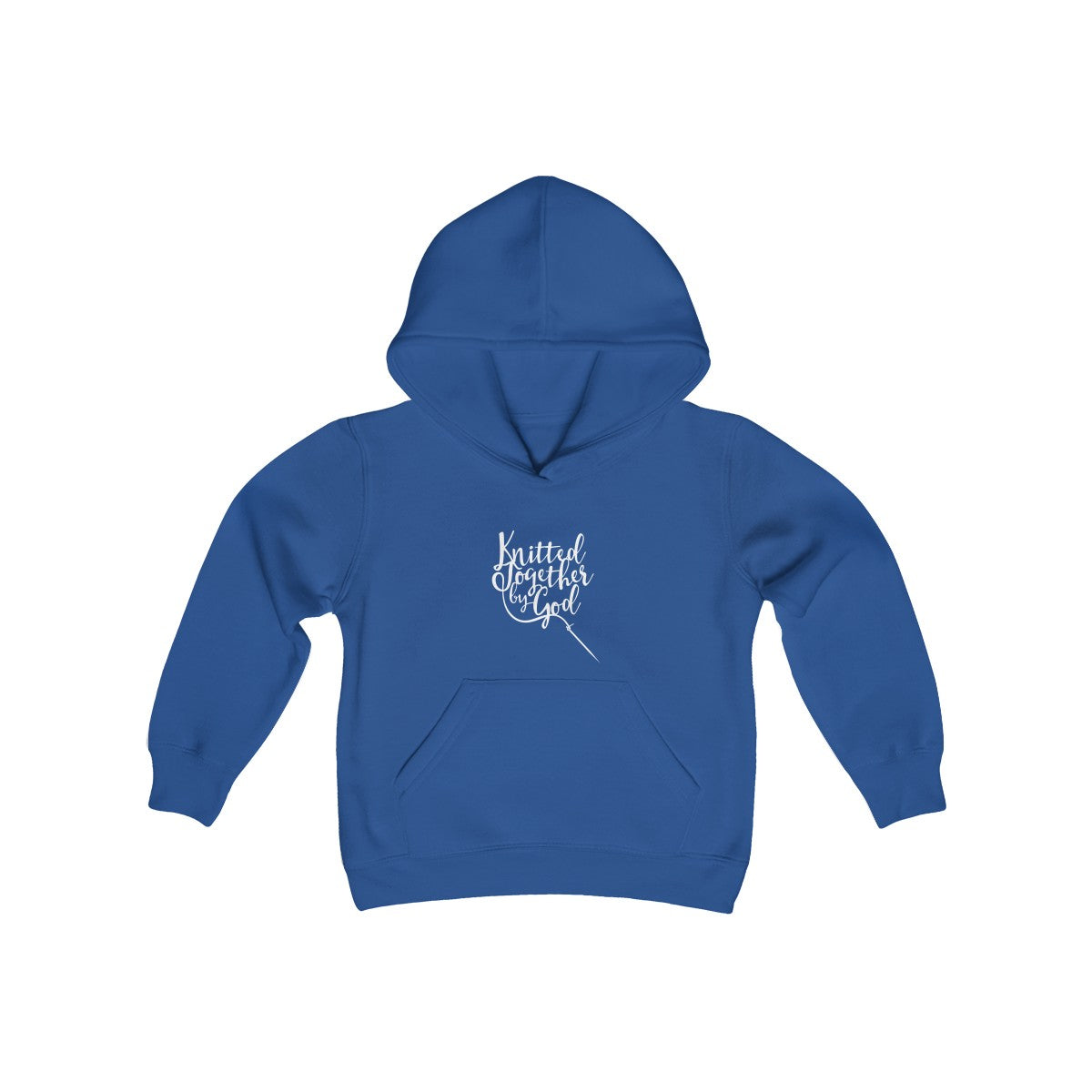 Knitted Together By God Kids Hooded Sweatshirt
