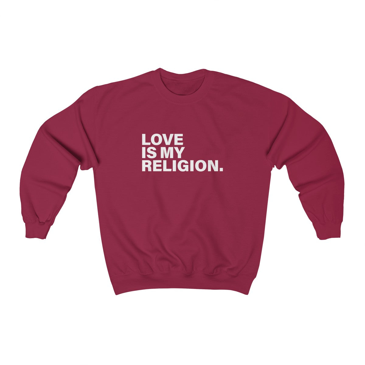 Love Is My Religion Unisex Heavy Blend™ Crewneck Sweatshirt - DARK COLORS