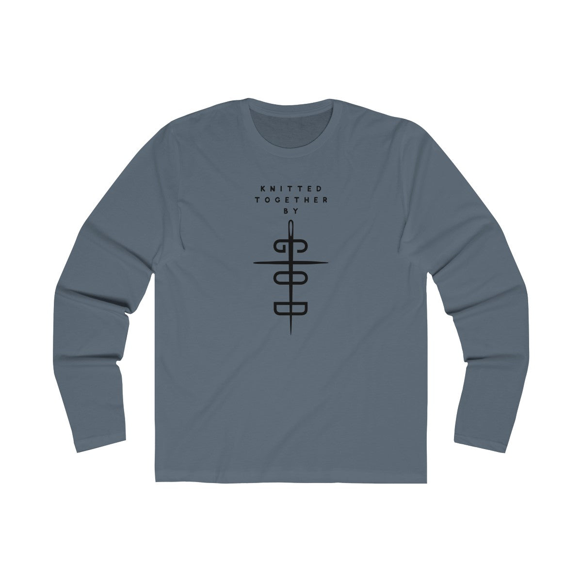 Knitted Together By God Men's Long Sleeve Crew Tee