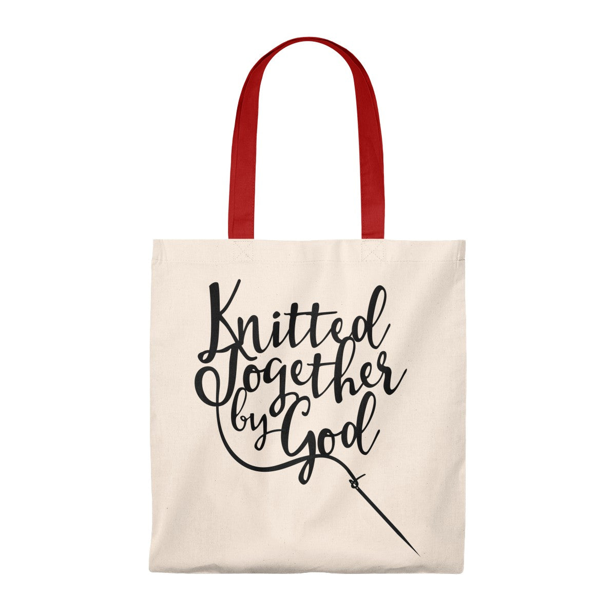 Knitted Together By God Tote Bag - Vintage