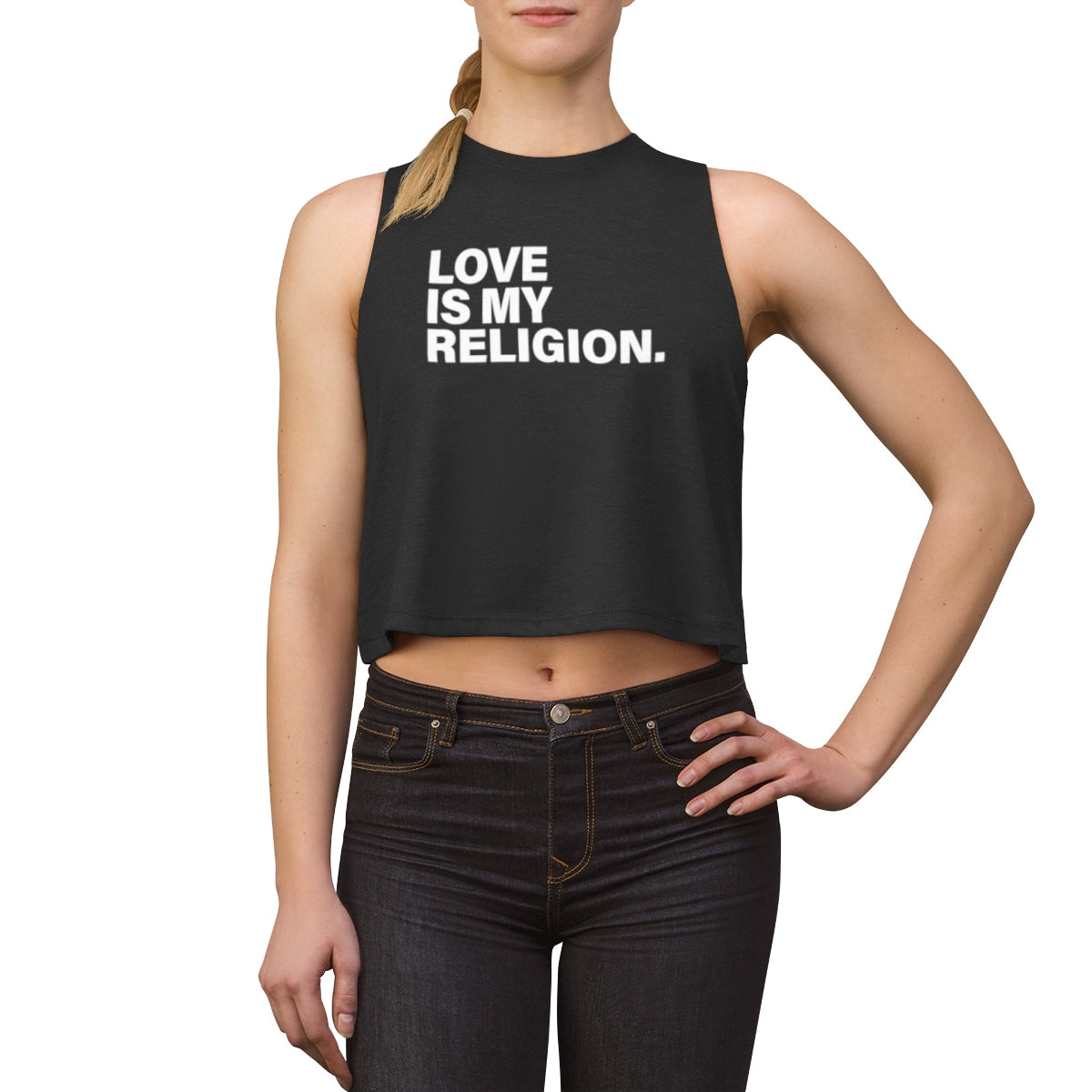 Love Is My Religion Women's Crop top