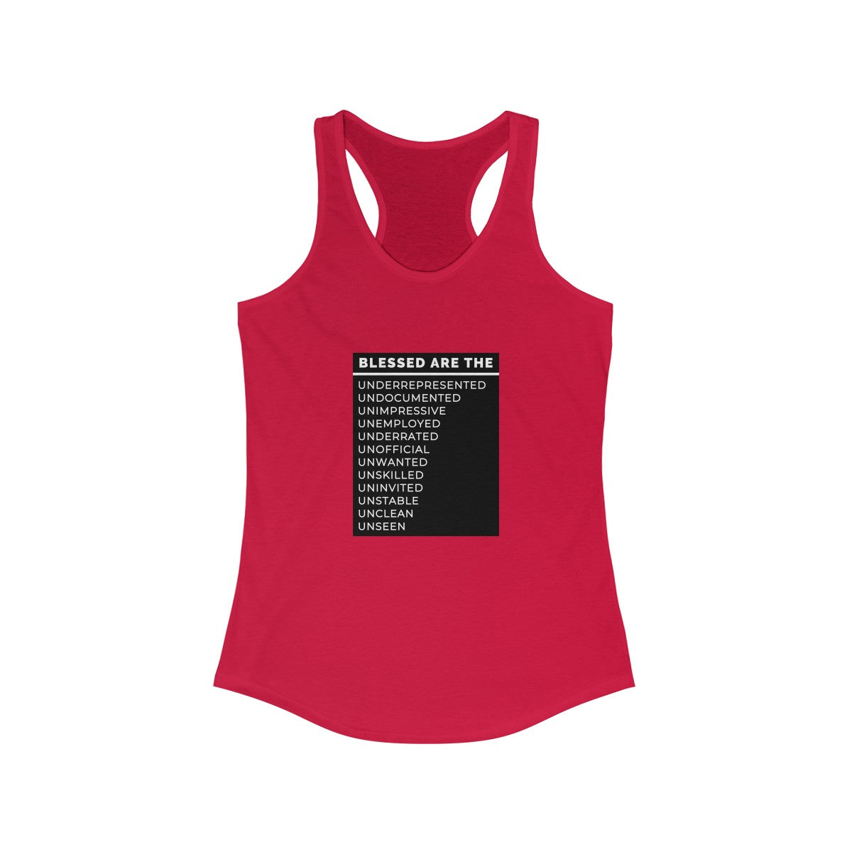 Blessed Are The Women's Ideal Racerback Tank