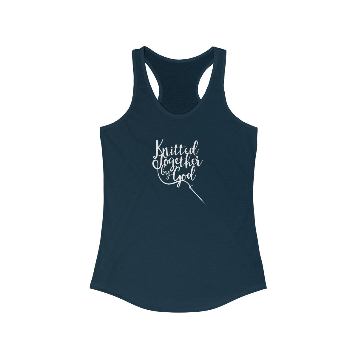 Knitted Together By God Women's Ideal Racerback Tank