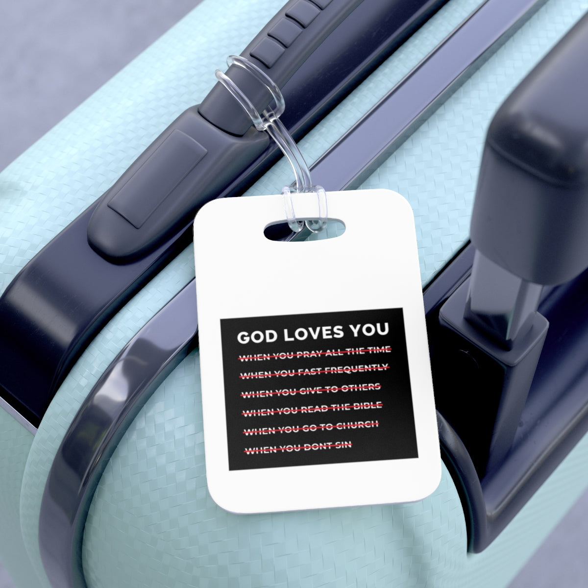 God Loves You Bag Tag