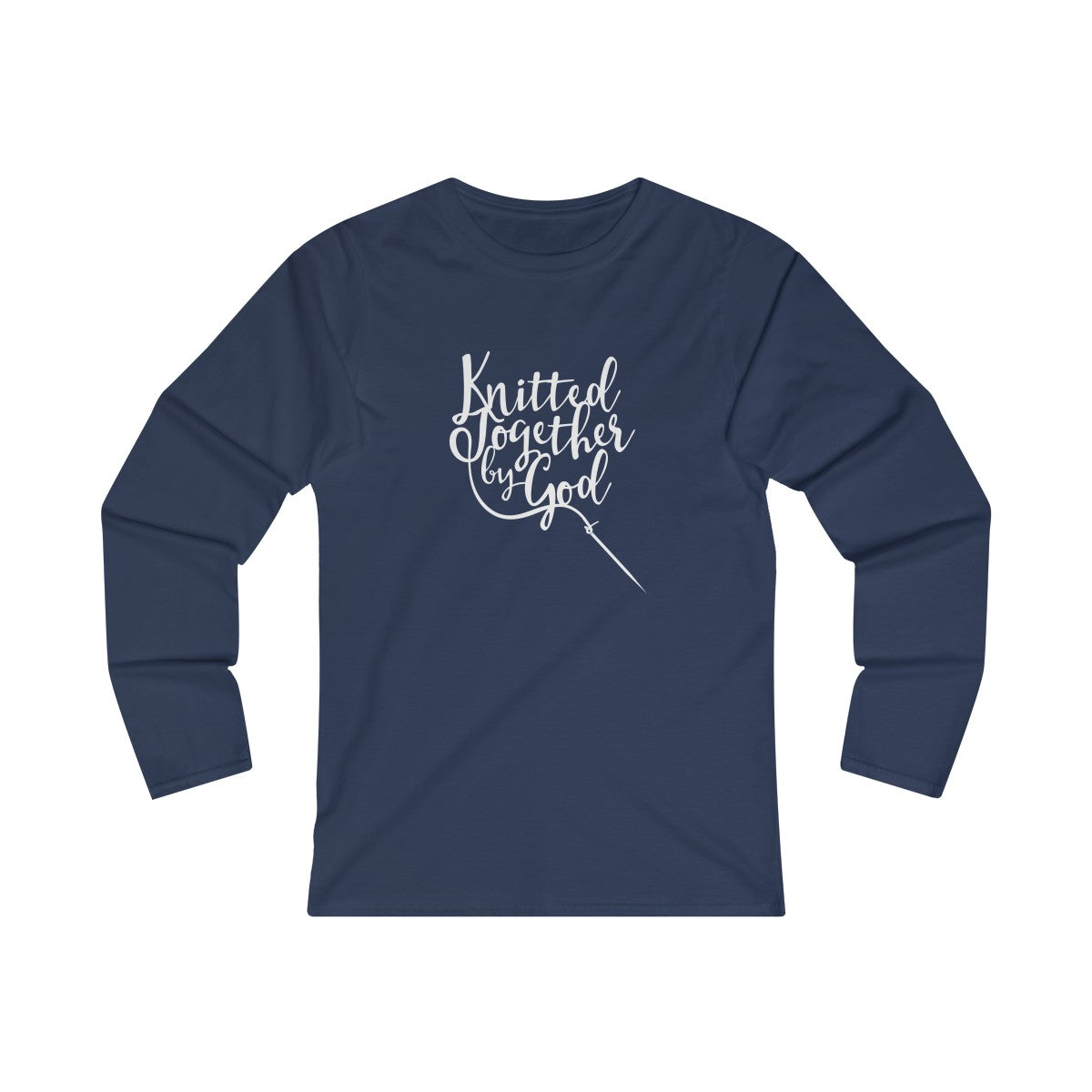 Knitted Together By God Women's Fitted Long Sleeve Tee