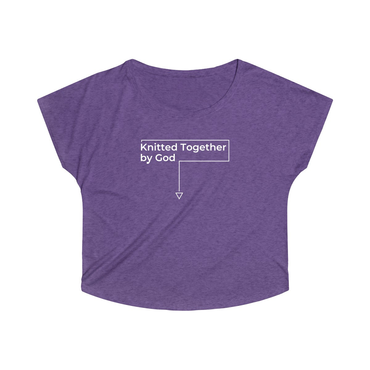 Knitted Together By God For Pregnant Women Tee - Dark Colors