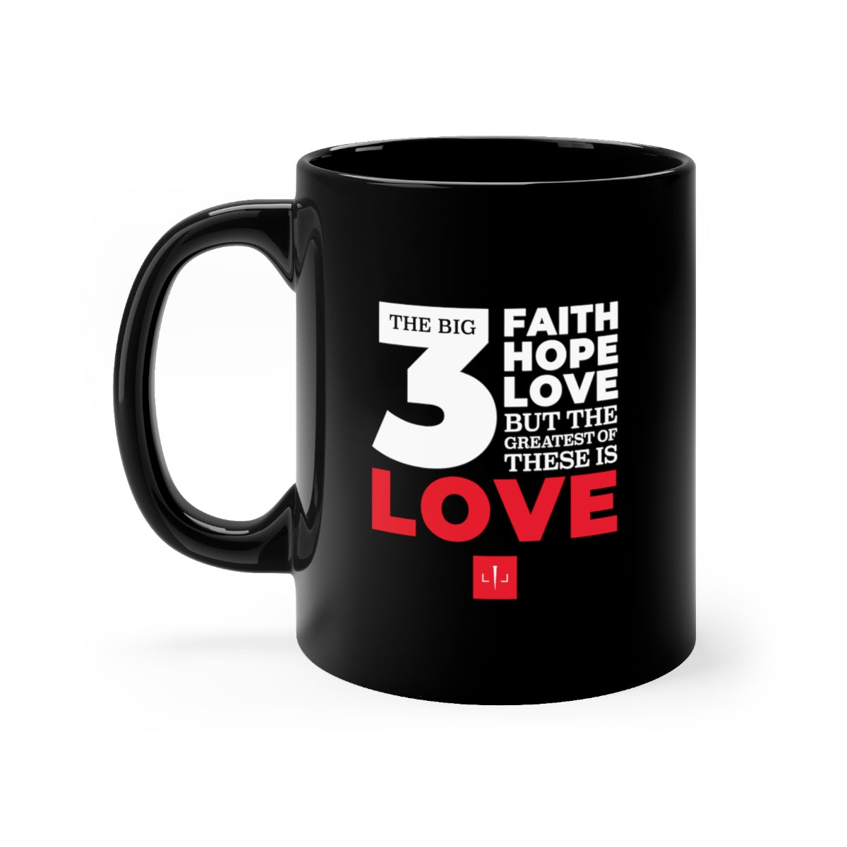 The Big 3 Black mug 11oz