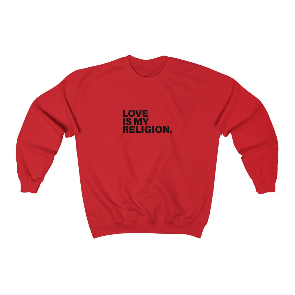 Love Is My Religion Unisex Heavy Blend™ Crewneck Sweatshirt - LIGHT COLORS