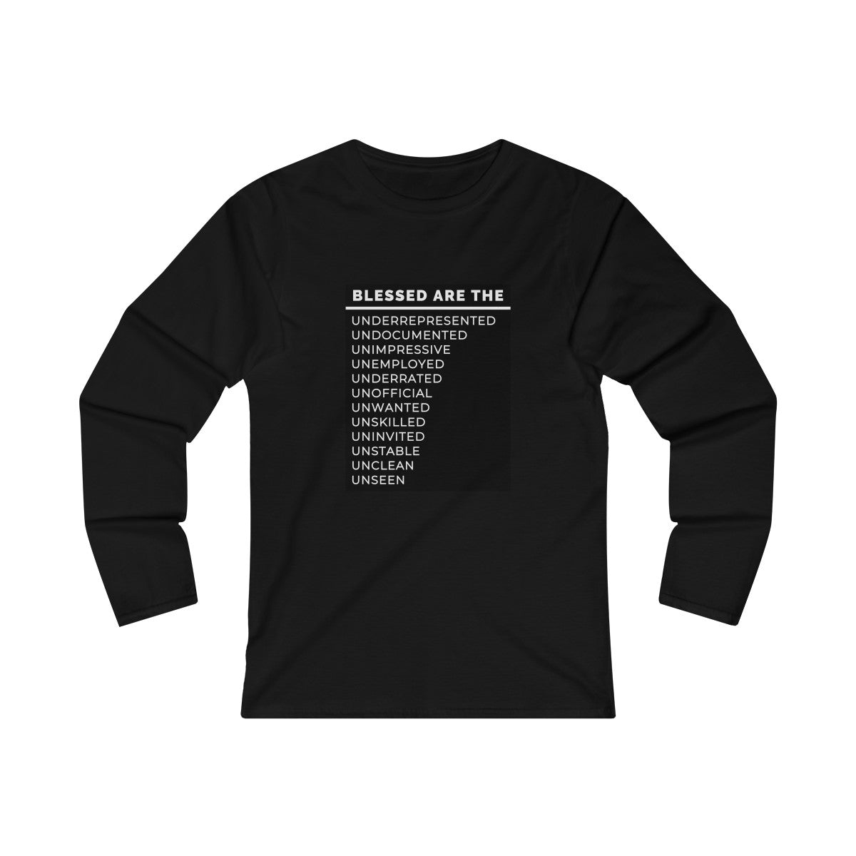 Blessed Are The Women's Fitted Long Sleeve Tee