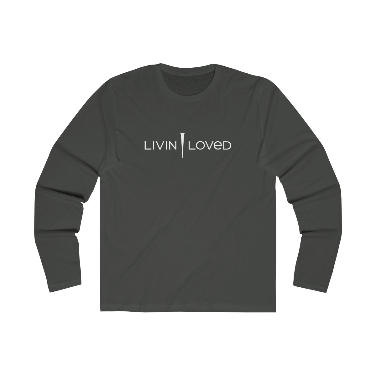 Livin Loved Men's Long Sleeve Crew Tee