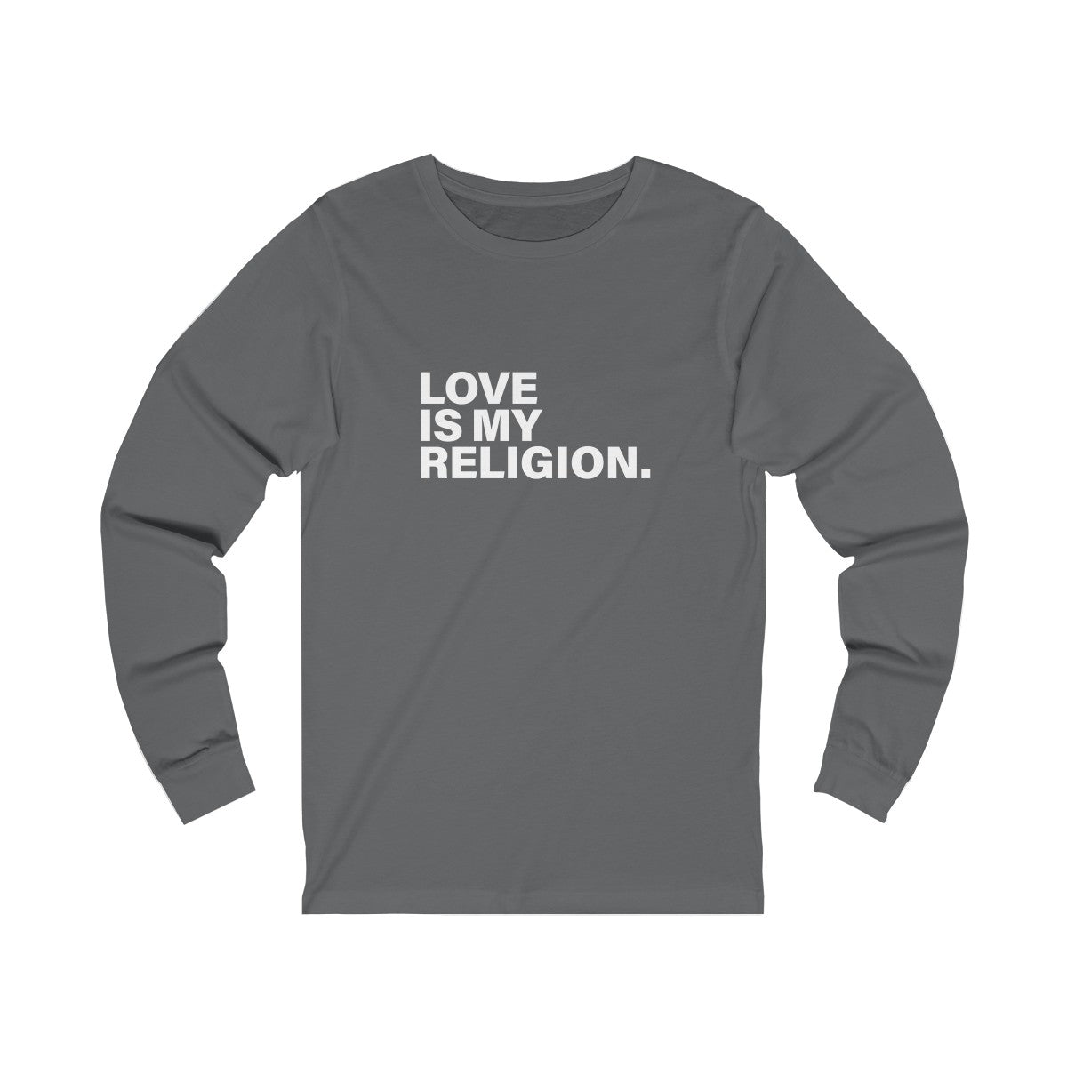 Love Is My Religion Unisex Jersey Long Sleeve Tee
