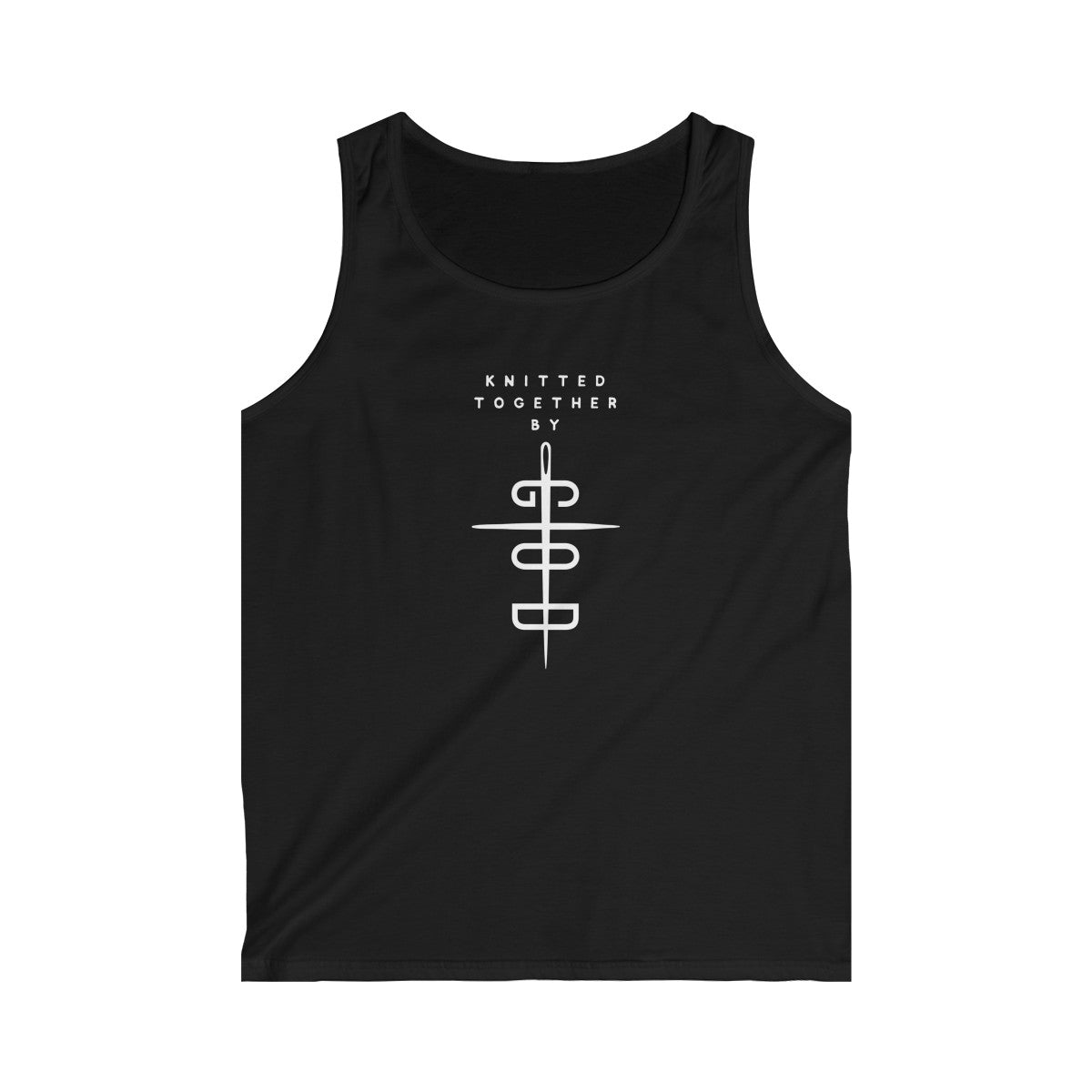 Knitted Together By God Men's Tank Top Dark Colors