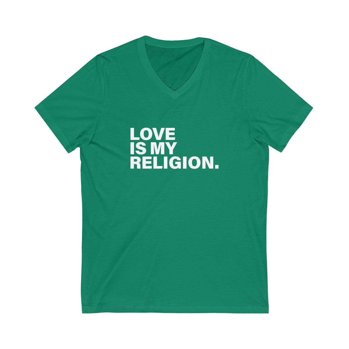 Love Is My Religion Unisex Jersey Short Sleeve V-Neck Tee