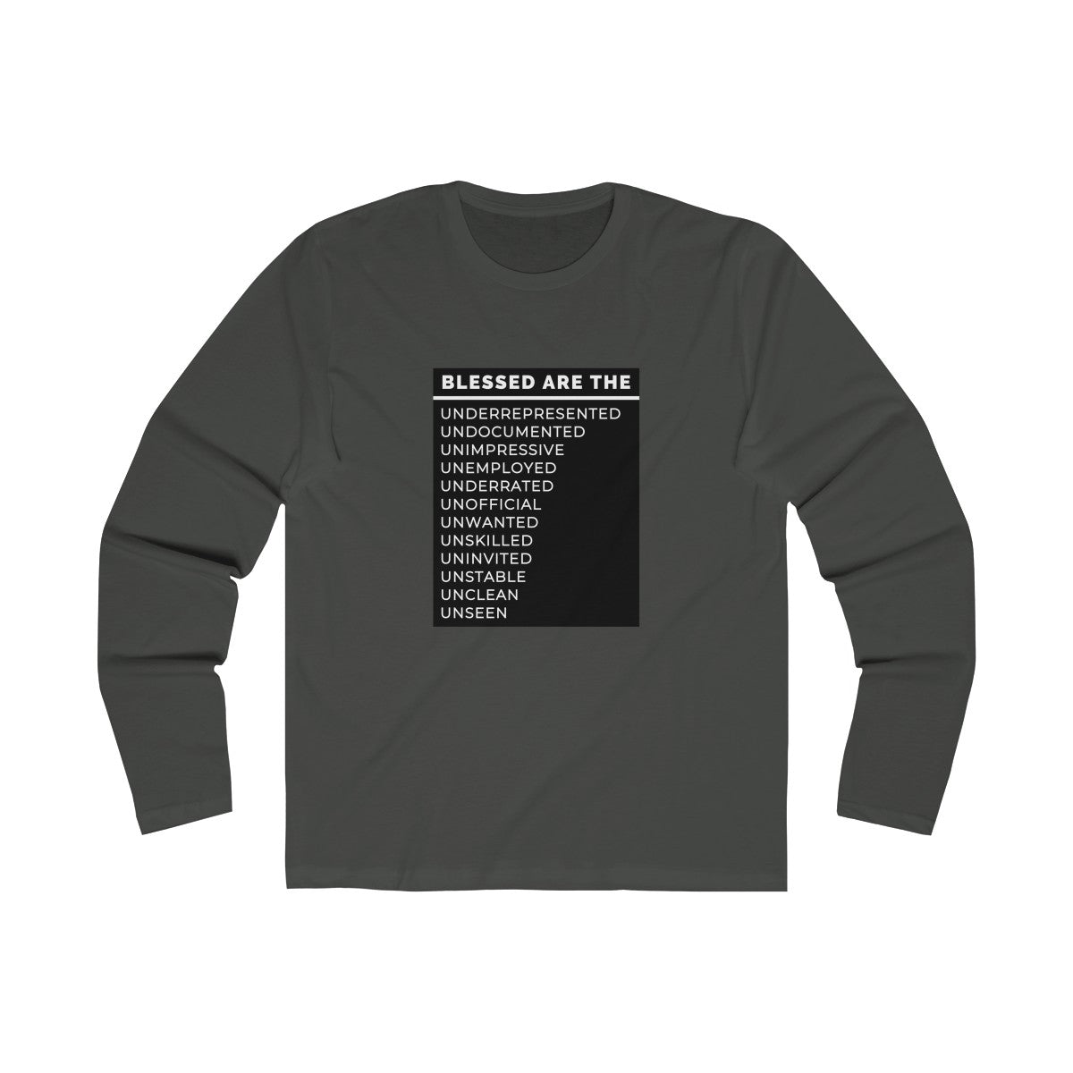 Blessed Are The Men's Long Sleeve Crew Tee