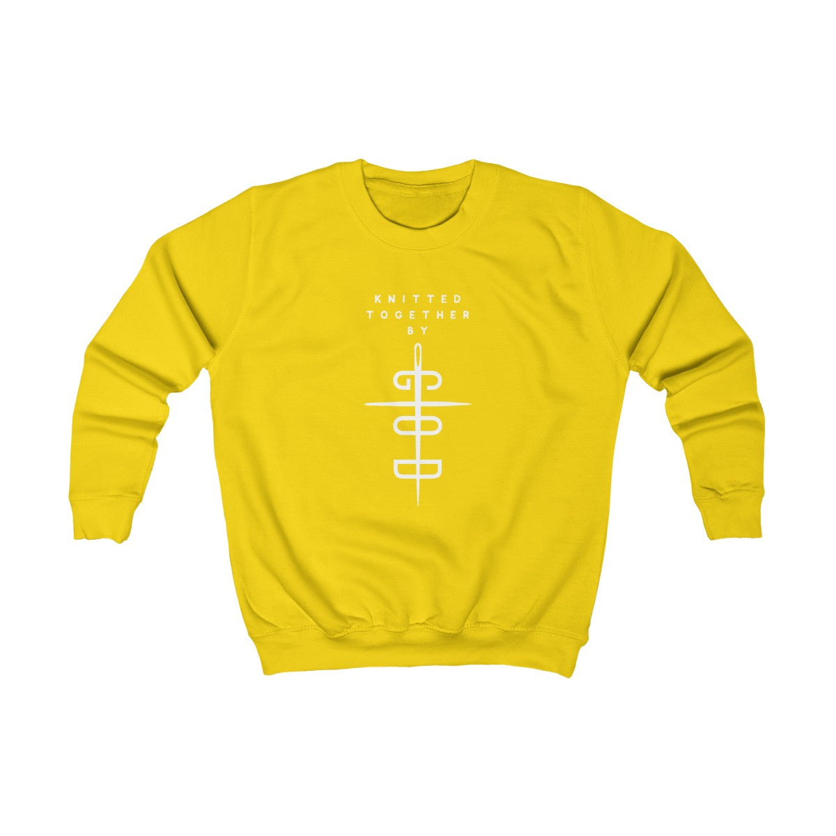 Knitted Together By God Kids Sweatshirt