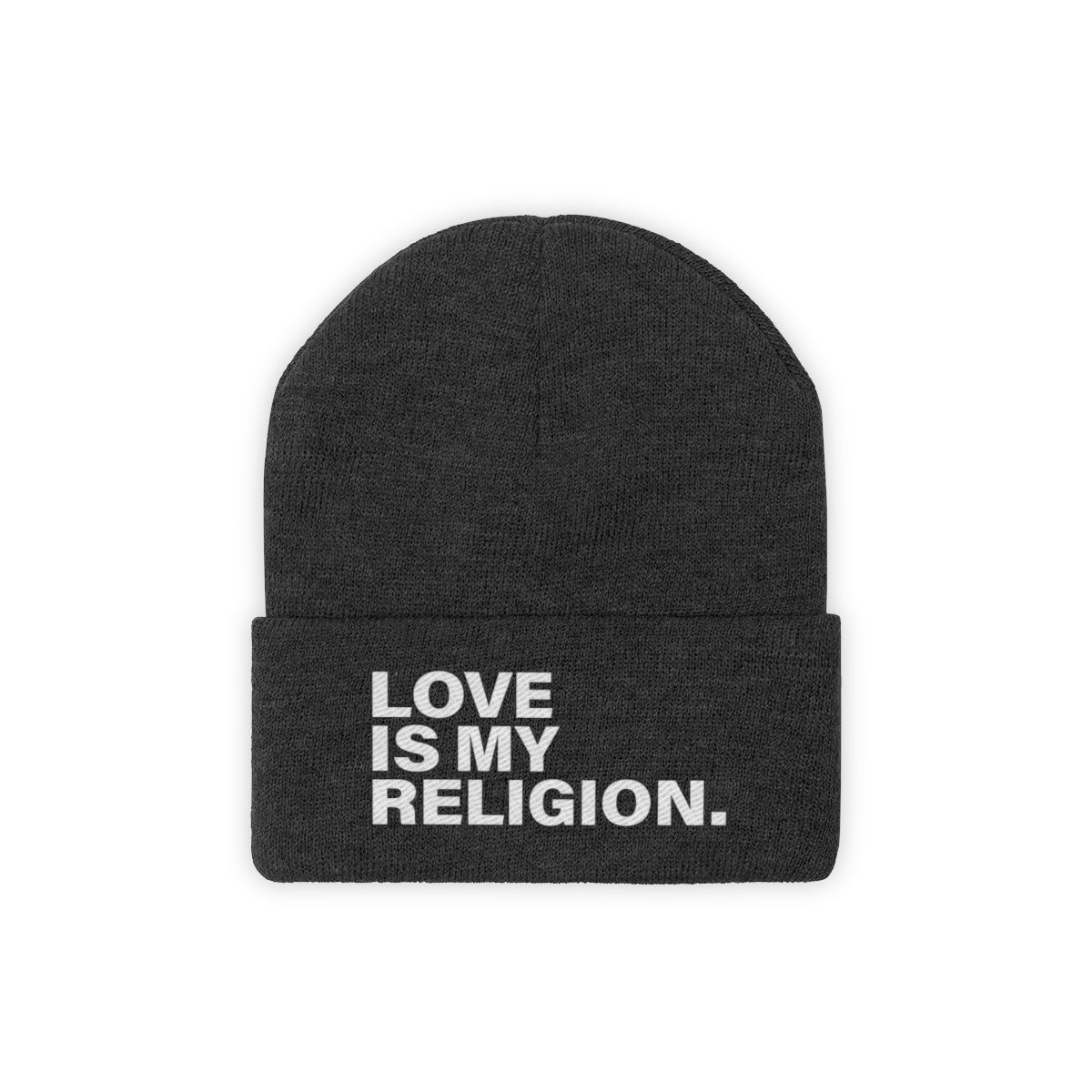 Love Is My Religion Knit Beanie