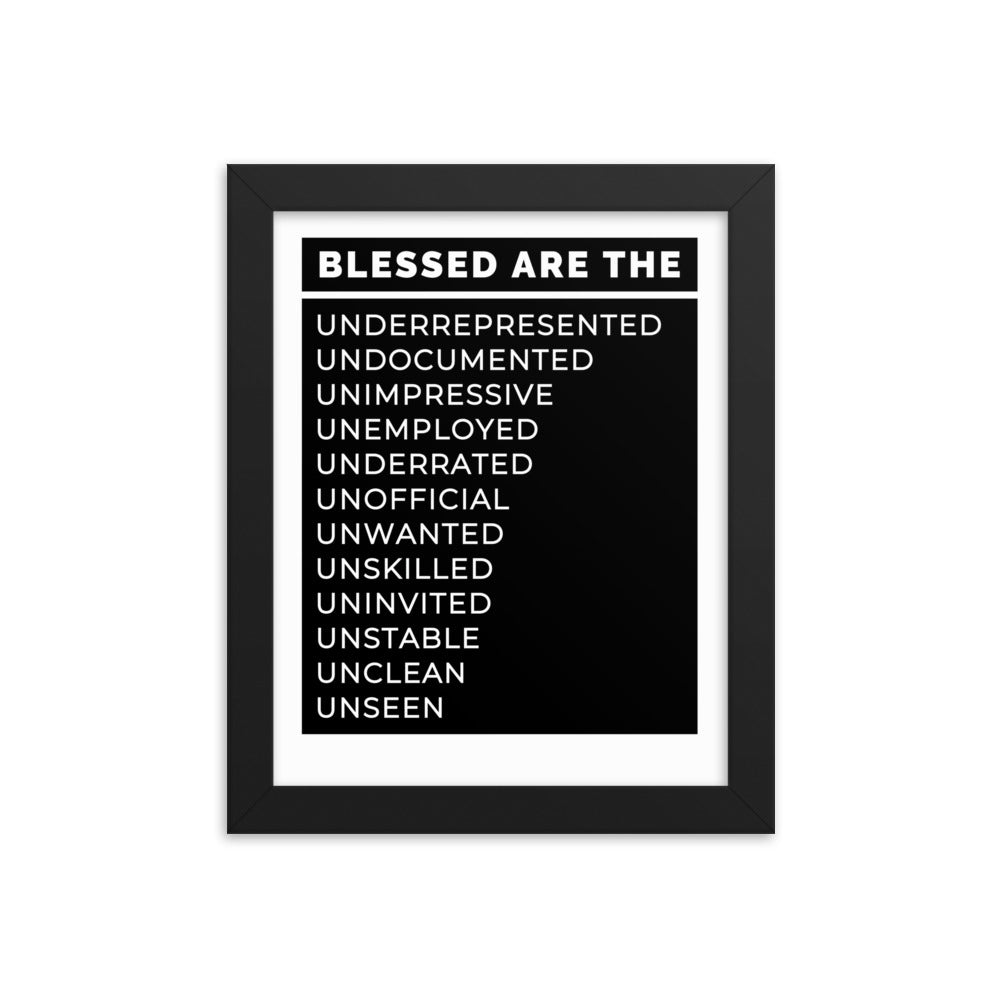Blessed Are The Framed poster