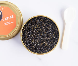 Sterling Two Color White Sturgeon Caviar 50g