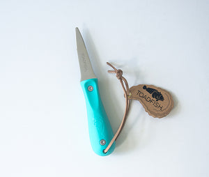 Toadfish Shucking Knife - Teal