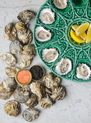 House Party Pack: 50 Oysters + 50g Caviar + 2 lb  Shrimp