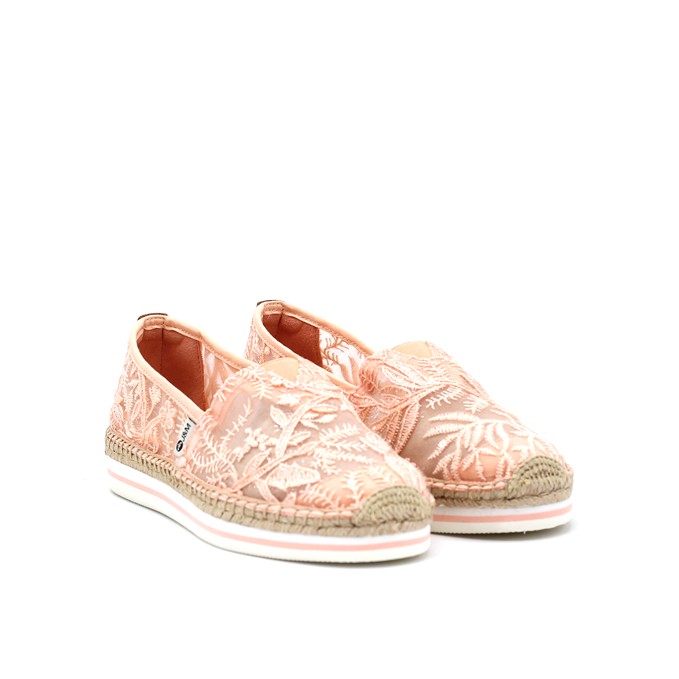 Classic slip-on sporty espadrille with woven jute at sole and toe