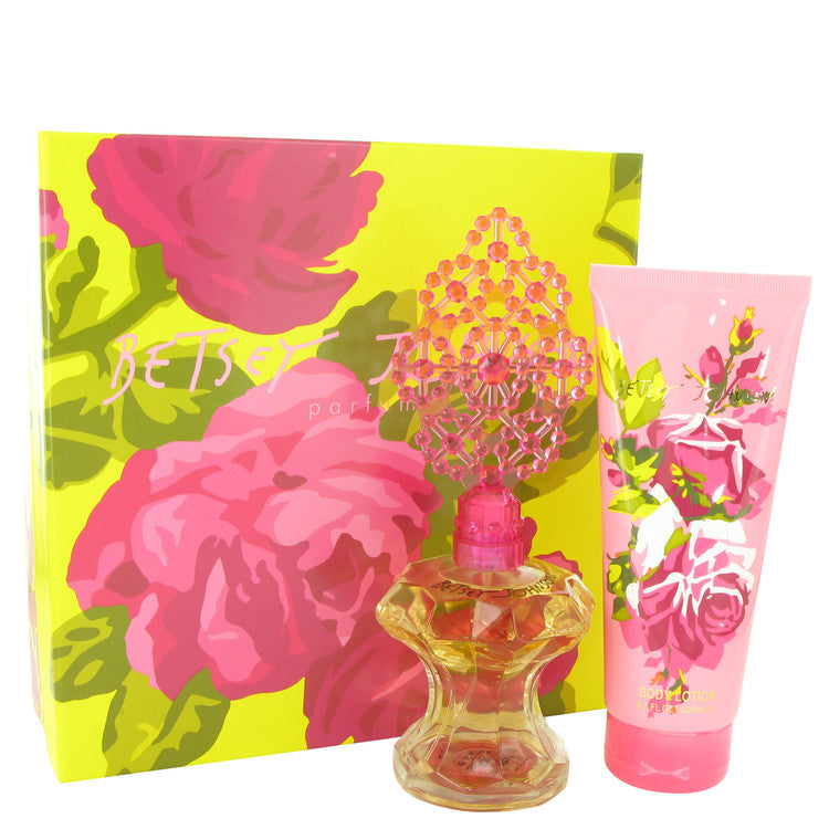 Betsey Johnson by Betsey Johnson Gift Set -- 3.4 oz Eau De Parfum Spray + 6.7 oz Body Lotion for Women