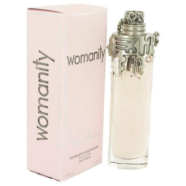 Womanity by Thierry Mugler Eau De Parfum Refillable Spray 2.7 oz for Women