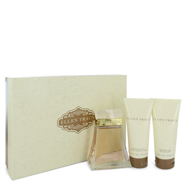 ELLEN TRACY by Ellen Tracy Gift Set -- 3.4 oz Eau De Parfum Spray + 3.4 oz Body Lotion + 3.4 oz Shower Gel for Women