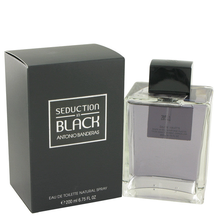 Seduction In Black by Antonio Banderas Eau De Toilette Spray for Men
