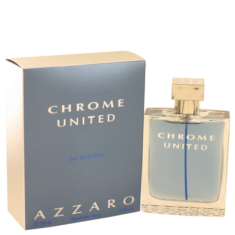 Chrome United by Azzaro Eau De Toilette Spray 3.4 oz for Men