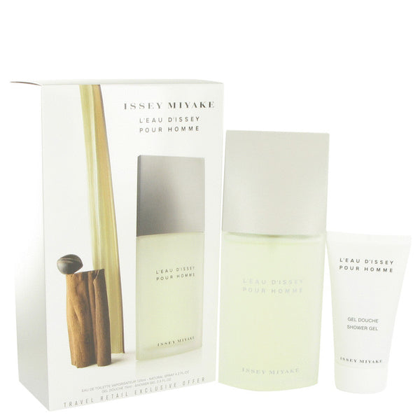 L'EAU D'ISSEY (issey Miyake) by Issey Miyake Gift Set -- 4.2 oz Eau De Toilette Spray + 2.5 oz Shower Gel for Men