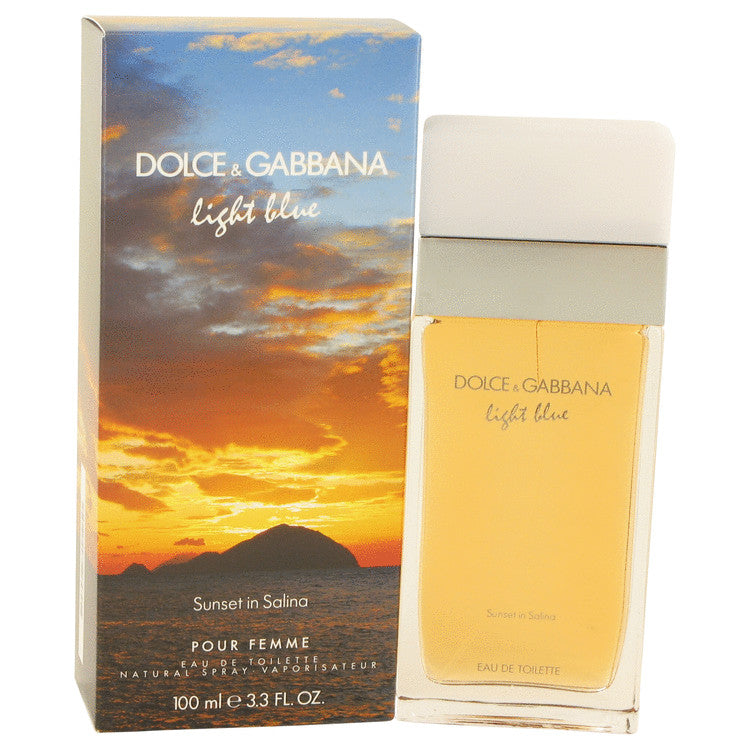 Light Blue Sunset in Salina by Dolce & Gabbana Eau De Toilette Spray 3.4 oz for Women