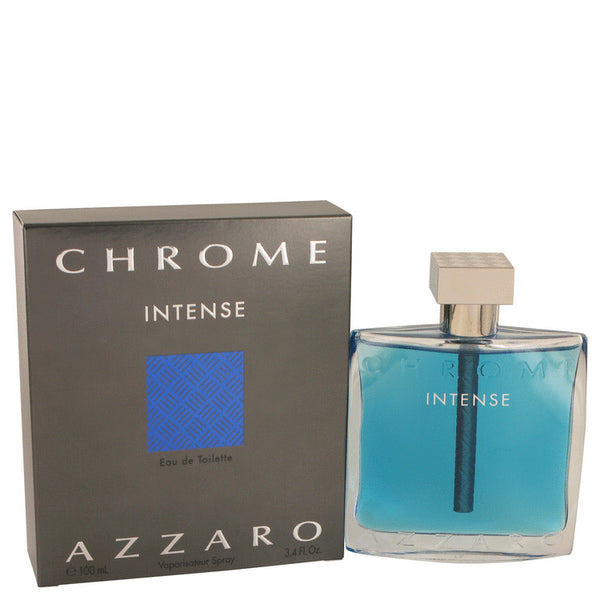 Chrome Intense by Azzaro Eau De Toilette Spray 3.4 oz for Men