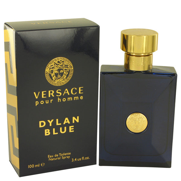 Versace Pour Homme Dylan Blue by Versace Eau De Toilette Spray 3.4 oz for Men