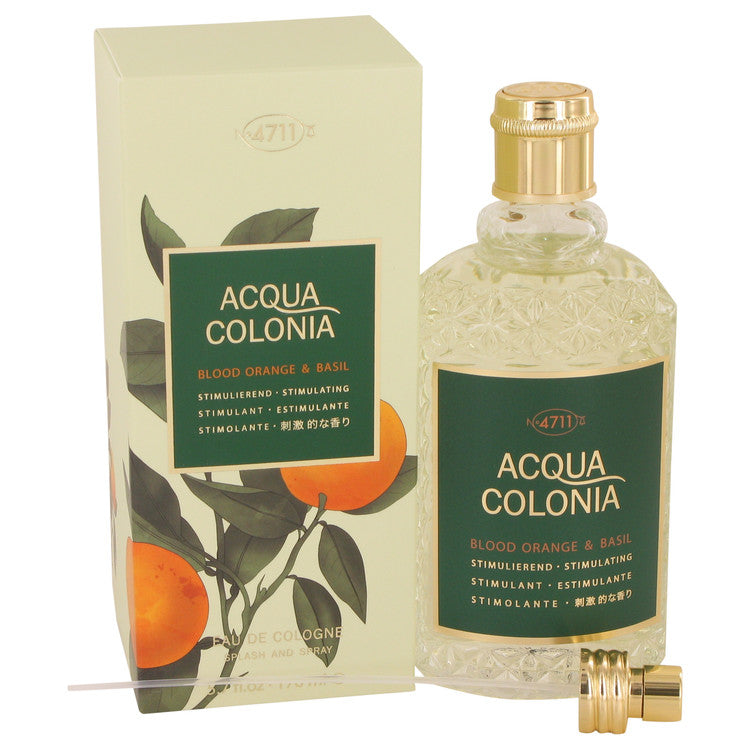 4711 Acqua Colonia Blood Orange & Basil by Maurer & Wirtz Eau De Cologne Spray (Unisex) 5.7 oz