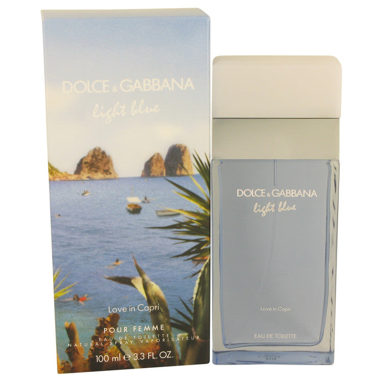 Light Blue Love in Capri by Dolce & Gabbana Eau De Toilette Spray 3.4 oz for Women
