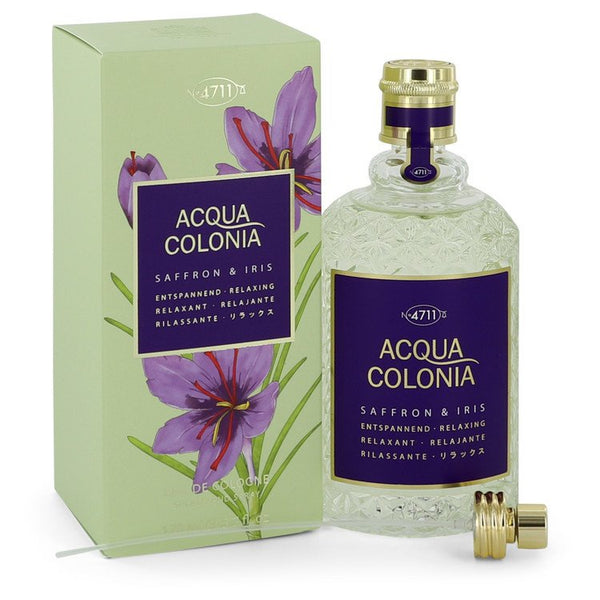 4711 Acqua Colonia Saffron & Iris by Maurer & Wirtz Eau De Cologne Spray 5.7 oz for Women
